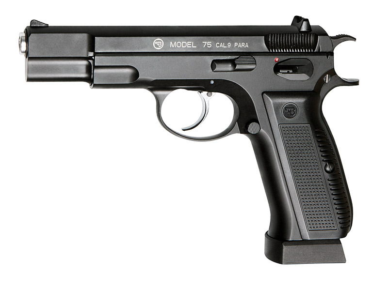 Vorführmodell CO2 Pistole CZ 75 Blow Back, Vollmetall, Kaliber 4,5 mm BB (P18)