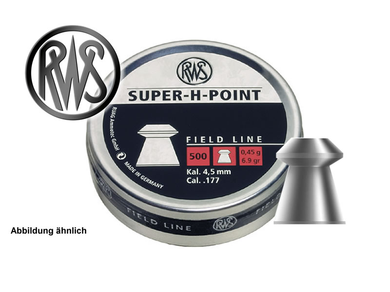 500 St�ck RWS Hohlspitz-Diabolo SUPER-H-POINT, Field Target, Kal. 4,5 mm, 0,45 g
