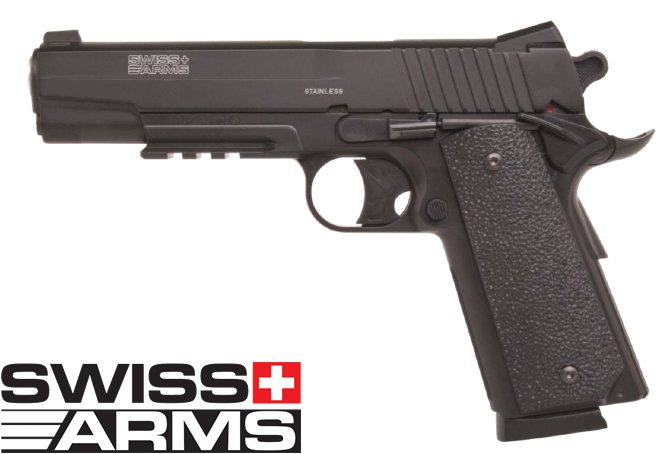 CO2 Pistole von Swiss Arms Modell Swiss Arms 1911 Vollmetall, Kal. 4,5mm (P18)