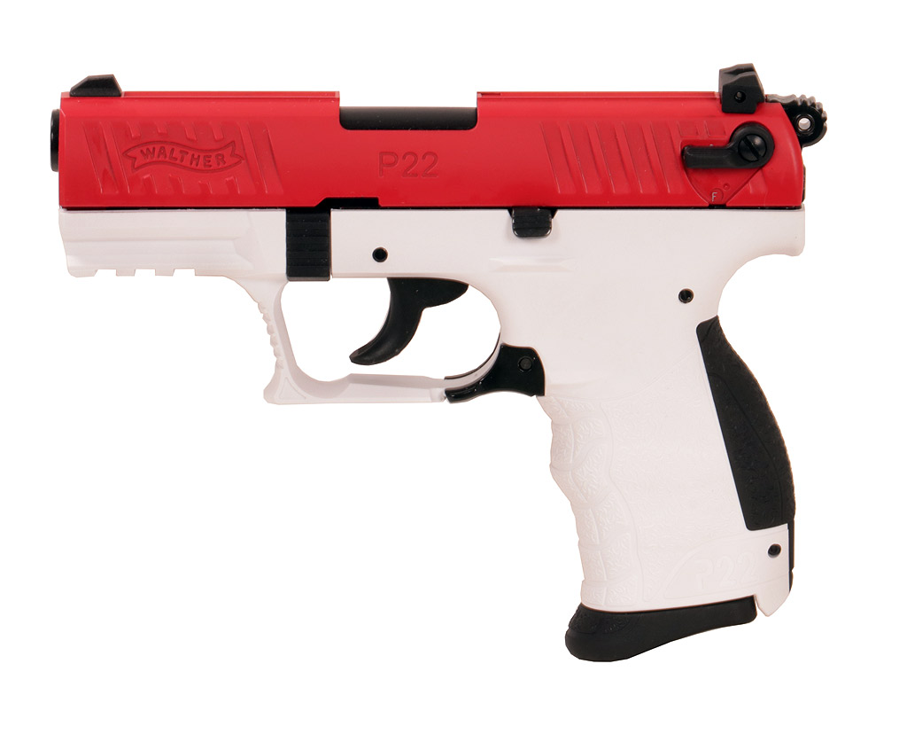 Gaspistole Signalpistole Walther P22Q Team Edition red/white, Kaliber 9 mm P.A. (P18)