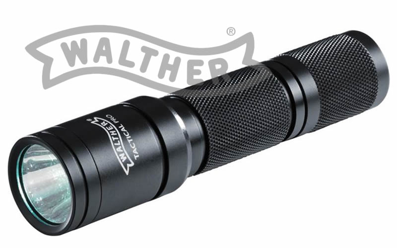 WALTHER Taschenlampe TACTICAL PRO, 170 Lumen, Cree LED, Alu-Geh�use, inkl. Batterien