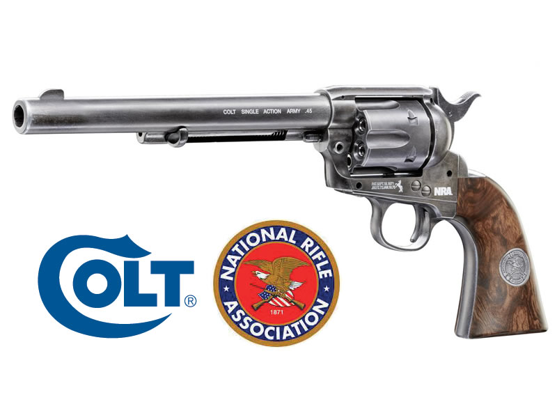 COLT CO2-Revolver SINGLE ACTION ARMY 45 NRA Edition, antik finish, 7,5 Zoll Lauf, Kal. 4,5 mm (P18)