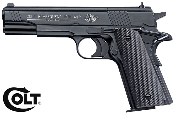 CO2 Pistole Colt Government 1911 A1 schwarz, Kal. 4,5 mm Diabolo (P18)