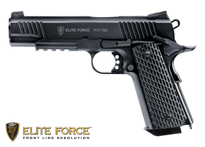 CO2 Softairpistole von Elite Force Modell 1911 TAC im Kaliber 6mm (P18)
