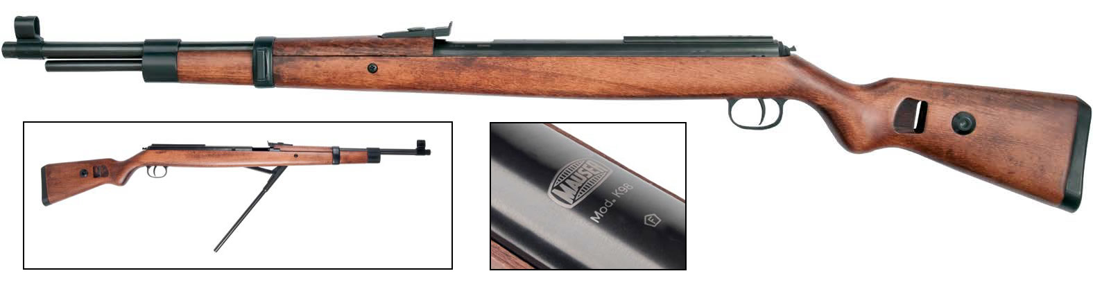 Legendär, Mauser K98 Weitschuss Luftgewehr, made in Germany, Kal. 4,5mm (P18)