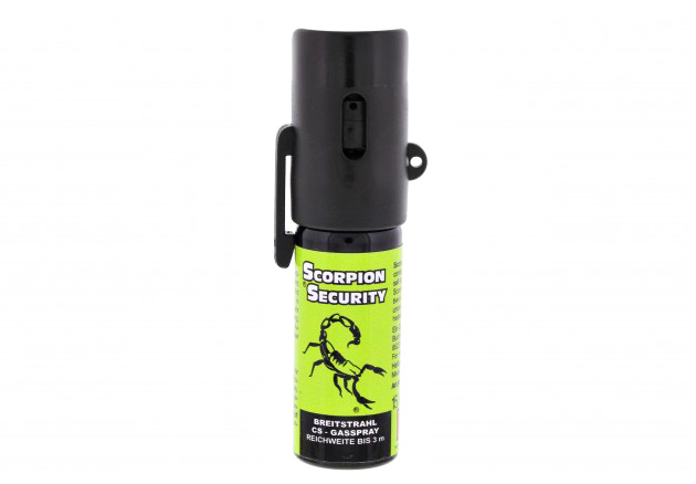 Abwehrspray, KO Spray, CS Gasspray Scorpion Security mit Gürtelclip, Inhalt 15 ml