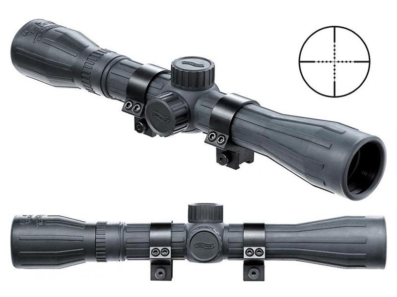Luftgewehr zielfernrohr walther 4x32 ga absehen mildot gummi