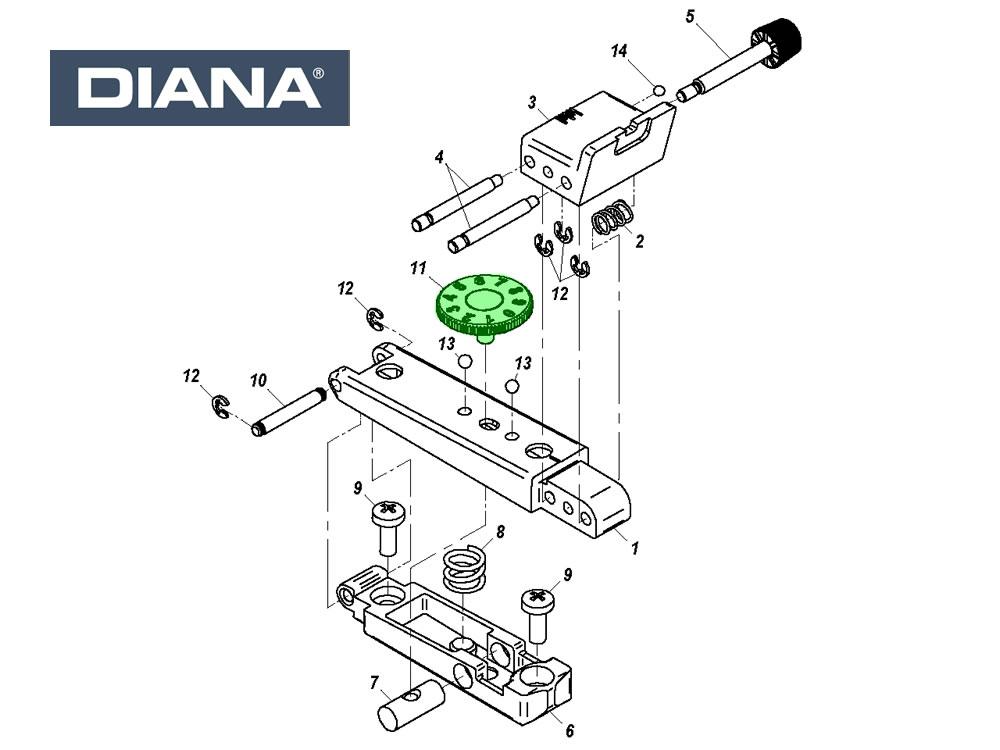 75 explosionszeichnung diana luftgewehr DIANA 75
