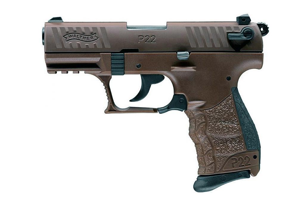 gaspistole signalpistole walther p22q chocolate kaliber 9. Black Bedroom Furniture Sets. Home Design Ideas