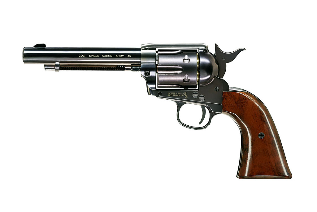 CO2 Revolver Colt SAA Single Action Army .45 - 5,5 Zoll, Blue finish, Kaliber 4,5 mm Diabolo (P18)