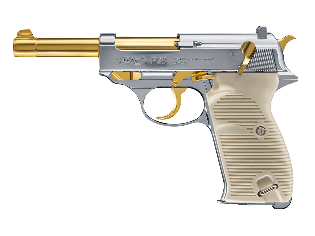 CO2 Pistole Walther P38 Gold Edition, Kaliber 4,5 mm BB (P18)