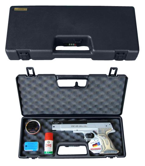 Pistolenkoffer Transportkoffer Schwarz 43 X 17 X 6 Cm