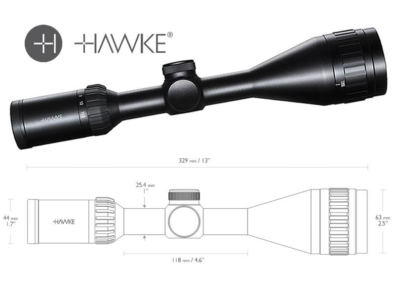 Hawke zielfernrohr airmax 4 12x50 ao amx absehen 1 zoll tubu