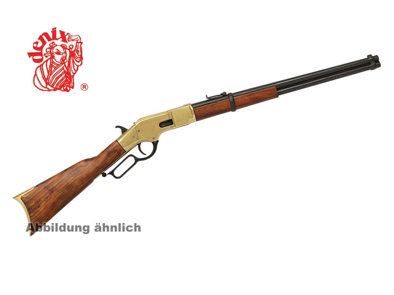WINCHESTER Deko Gewehr, USA 1866 CARBINE, lever action, 100 cm, messing