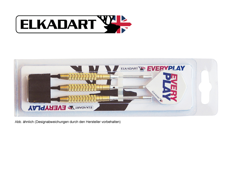3 Stück ELKADART soft darts EVERY PLAY, 15g, Messing barrel, Alu-Schaft, custom 100 Micron Flights