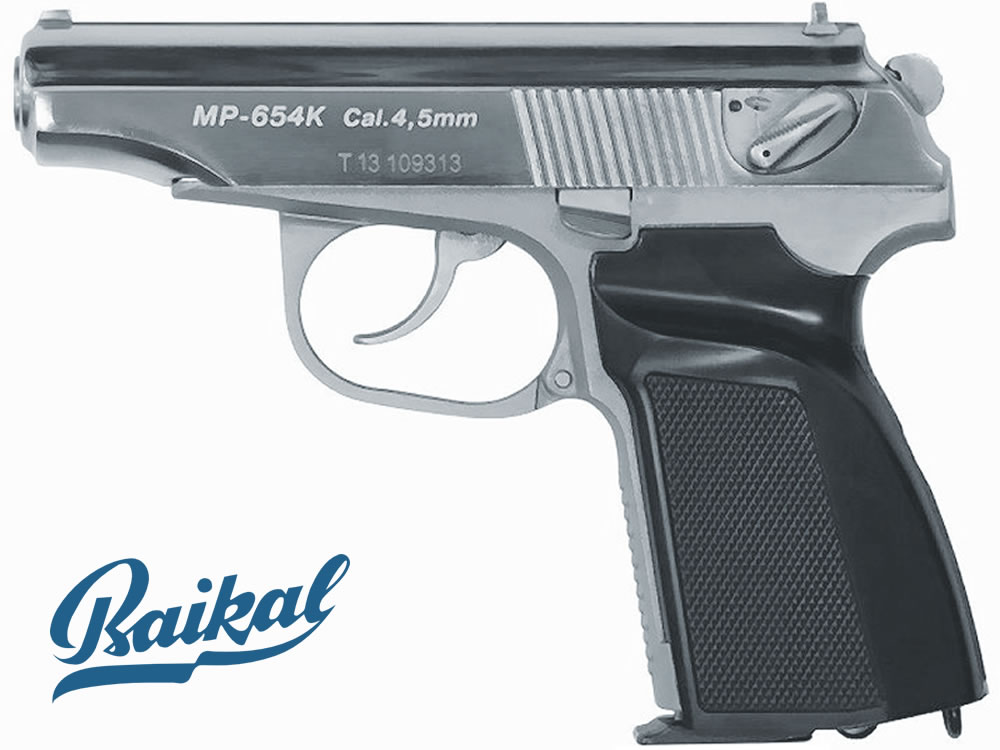 CO2 Pistole Baikal Makarov MP 654 K, Chrom, limitiert, Kal. 4,5 mm BB (P18)