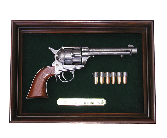 Bilderrahmen mit colt single action army 45 for Bilderrahmen action