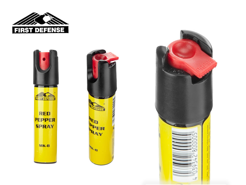 FIRST DEFENSE Pfefferspray RED PEPPER MK-8, 20 ml, Wirkstoff OC, 16 Mio Scoville, made in Germany