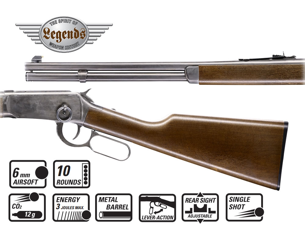 CO2 Unterhebel Repetier Gewehr Umarex Legends Cowboy Rifle, Le