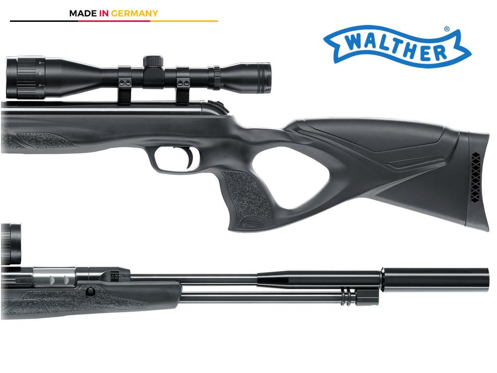 Starrlauf luftgewehr walther lgu varmint kit mit schalldämpfer