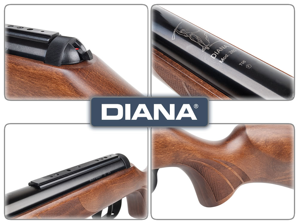 Kipplauf luftgewehr diana 280 truglo fiberoptik kal. 4 5 mm