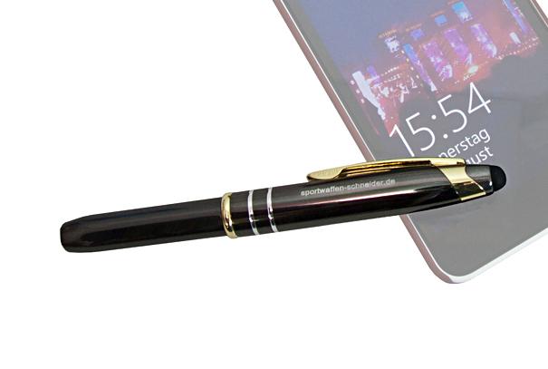 Sws Kugelschreiber Mit Led Lampe Stylus F R Touchscreen