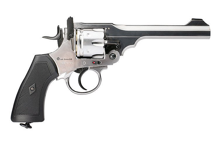CO2 Revolver Webley MkVI .455 Service Revolver Exhibition Finish, Kal. 4,5 mm BB (P18)