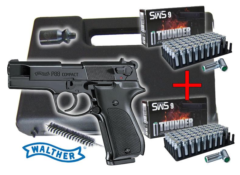 gaspistole signalpistole walther p88 compact kal 9 mm p. Black Bedroom Furniture Sets. Home Design Ideas